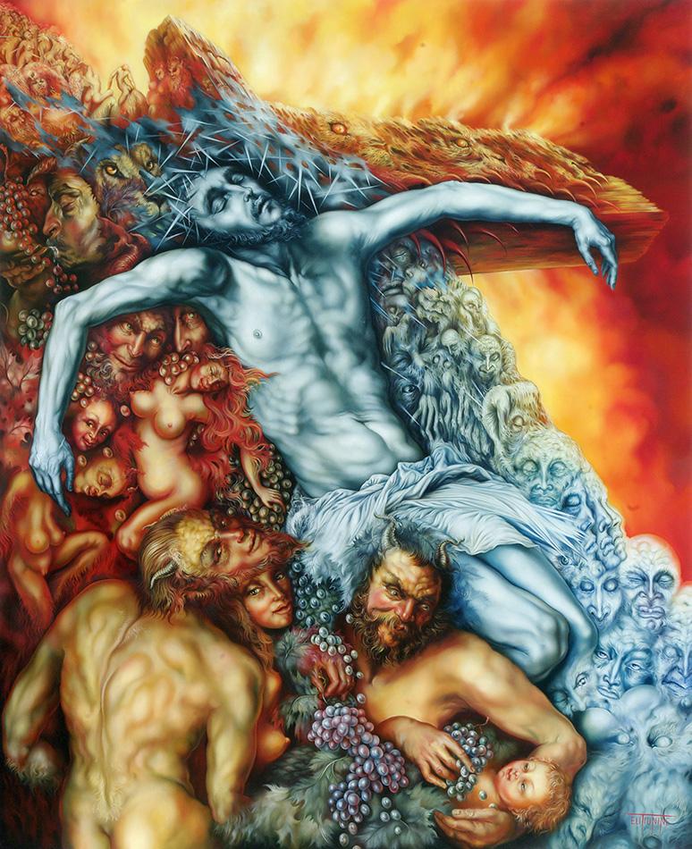 Eli Tiunine Christ Dionysos image