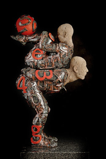 Button of Let's Waste Some Time. A sculpture from Marek Zyga