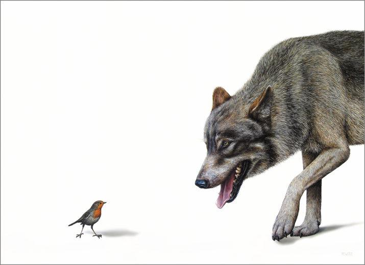 Button to view Roodborstje en de boze wolf