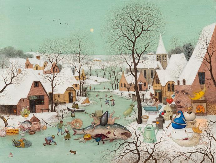 Button of Winter Landscape from Micha Lobi