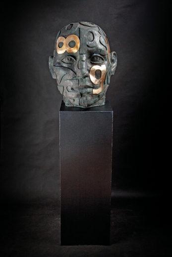 Button of Head. A sculpture from Marek Zyga