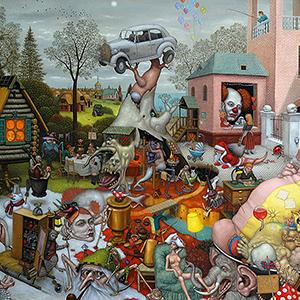 Micha Lobi a Fantastic Realism artist