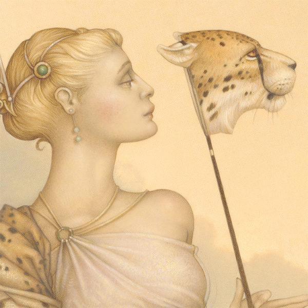 Michael Parkes giclee Five Cheetas, zoom view