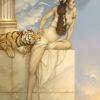 Michael Parkes artwork Danae on canvas