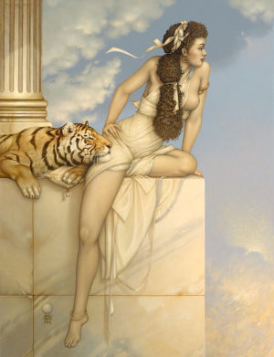 Michael Parkes artwork Danae on canvas