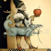 Michael Parkes artwork The Dragon Collector on canvas