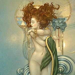 Michael Parkes a prominent Magic Realim artist
