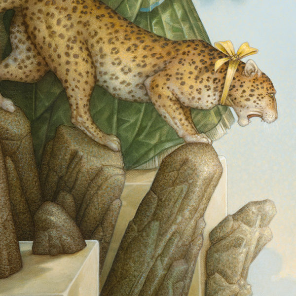 Michael Parkes giclee Fearless, zoom view