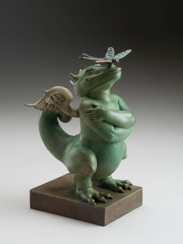 "Dragon Dragon ""Green"" a sculpture of Michael Parkes"