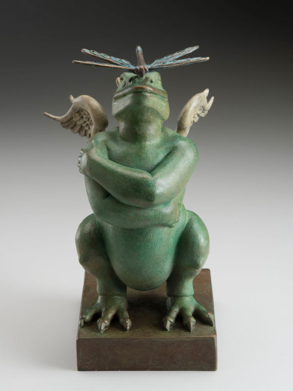 "Dragon Dragon ""Green"" a sculpture of Michael Parkes (Front)"