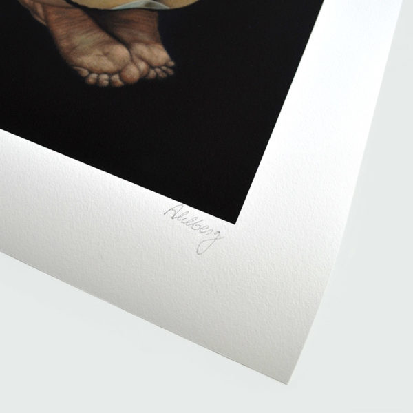 Detail photo of signature of giclee, In the Trousers