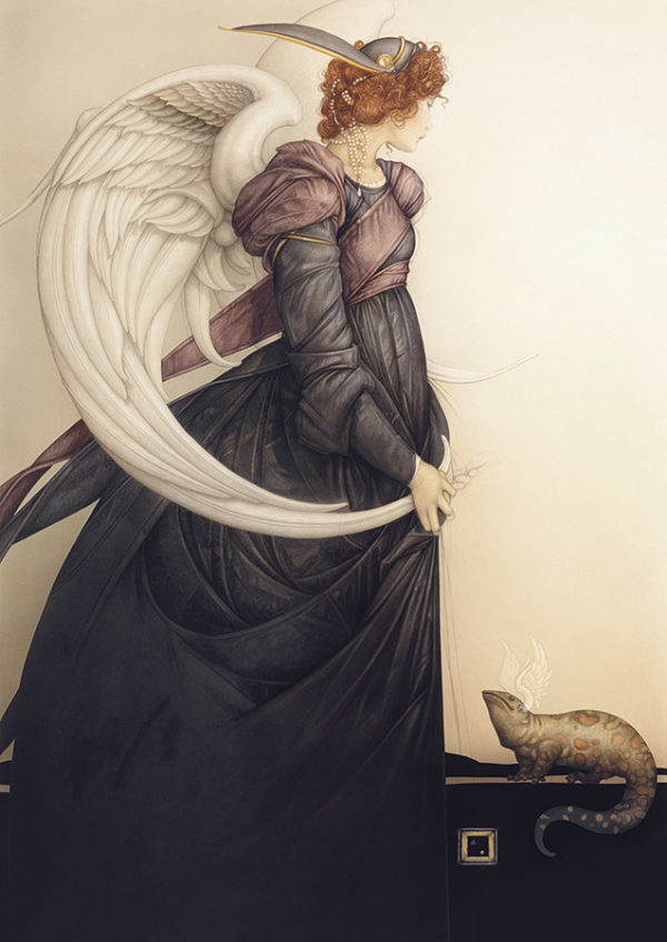 Giclee of Michael Parkes - Golden Salamander