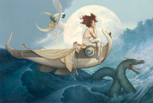 Giclee of Michael Parkes, Journey Home
