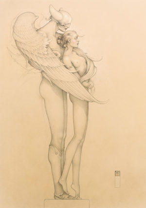 Giclee of Michael Parkes, Diamond Warrior