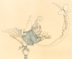 Giclee of Michael Parkes, Gift for a Sad Moon