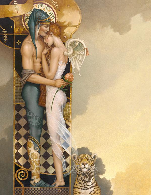 Michael Parkes - The Last Peony, canvas giclee