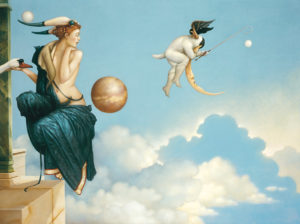Michael Parkes - Moon Thief, canvas giclee