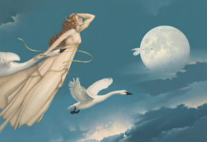 Michael Parkes - New Moon Full Moon, canvas giclee