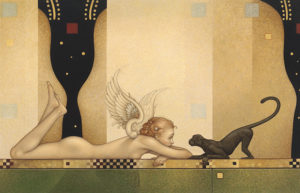 Michael Parkes - See No Evil, canvas giclee