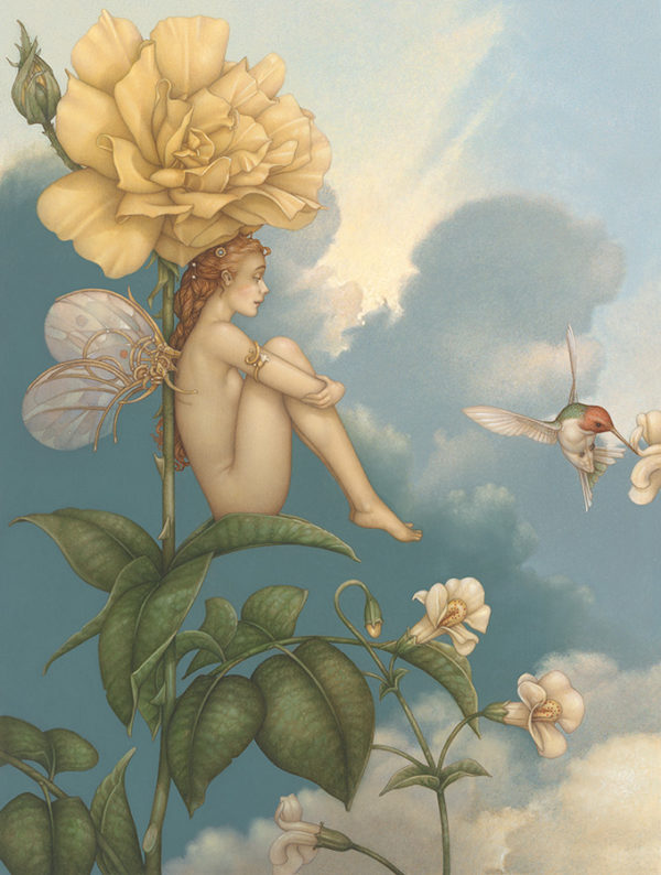 Michael Parkes - Shade of the Rose, canvas giclee