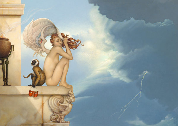 Michael Parkes - Summer Storm, canvas giclee