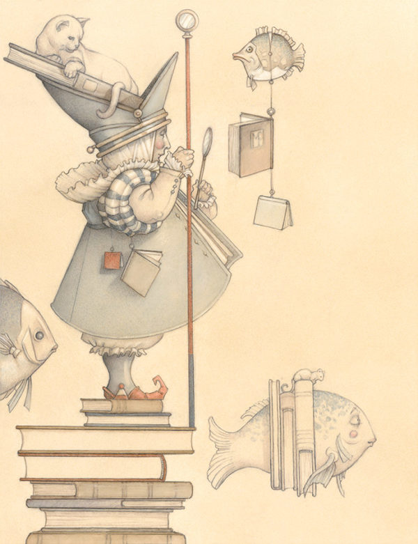 Giclee of Michael Parkes, The Librarian