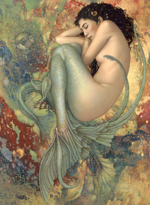 Michael Parkes - The Sleeping Mermaid, canvas giclee