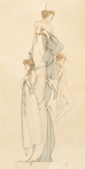 Giclee of Michael Parkes, The Three Graces