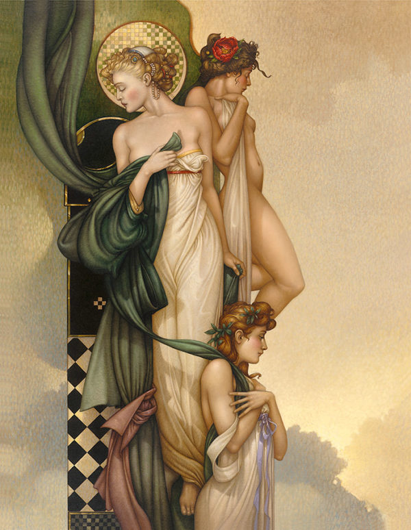 Michael Parkes - The Three Graces, canvas giclee