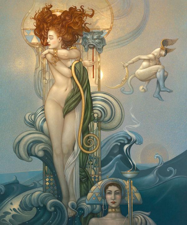Michael Parkes - Venus, canvas giclee