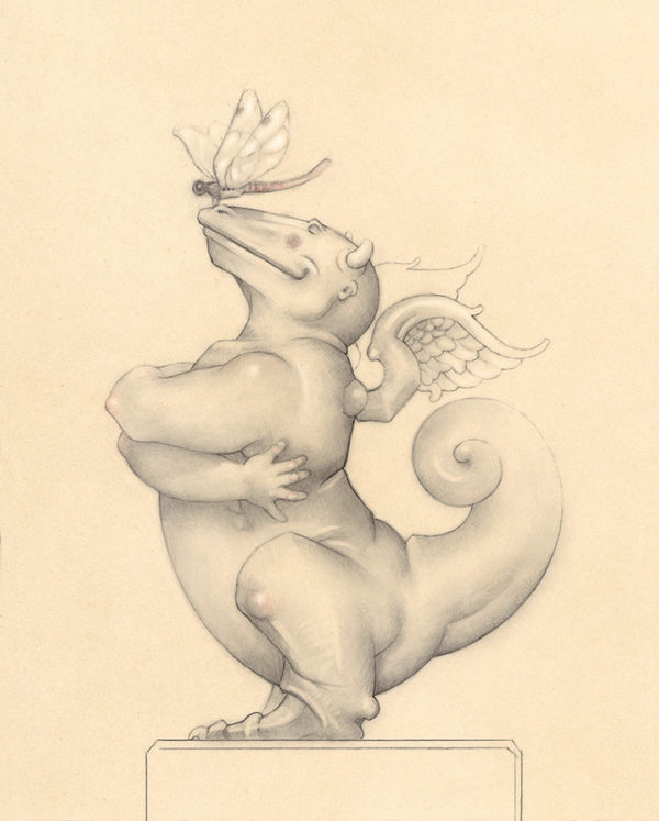 Giclee of Michael Parkes, Dragon - Dragon (drawing) on paper