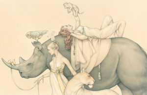 Giclee of Michael Parkes, Traveling Circus, 2011 on paper