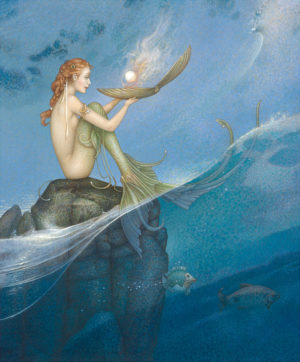 Giclee of Michael Parkes - Magic Pearl