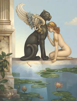 Giclee of Michael Parkes, Meditation