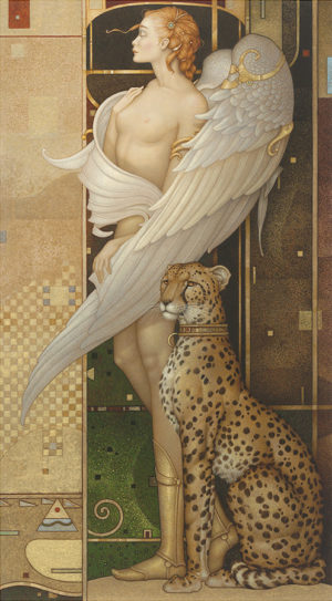 Giclee of Michael Parkes Gold Angel