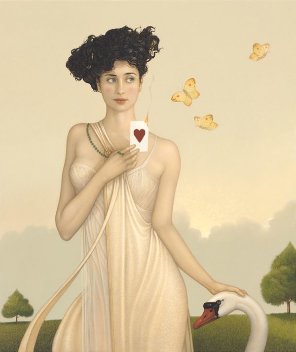 Giclee of Michael Parkes, I Give You My Heart