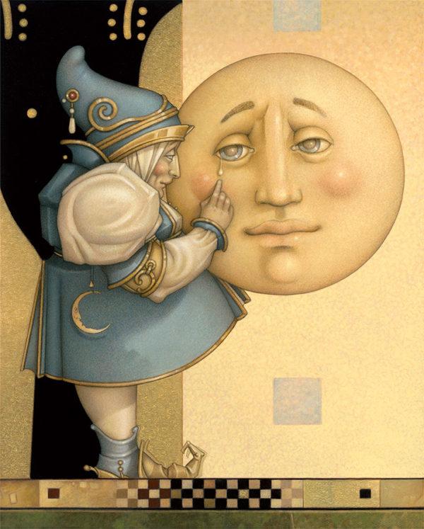 Giclee of Michael Parkes, Moon Minders Full Moon