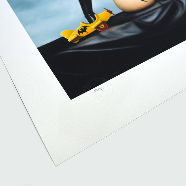 Detail photo of the numbering of giclee Plaything IV