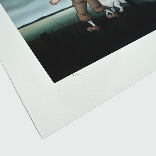 Detail photo of the numbering of giclee Sightseeing V