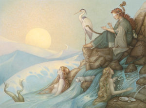 Michael Parkes - Morning Song, canvas giclee