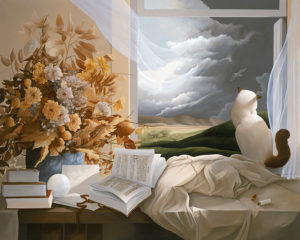 Michael Parkes - Still Life, canvas giclee