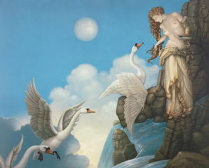 Michael Parkes - The Source, canvas giclee