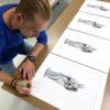 Marcel Witte signing artwork