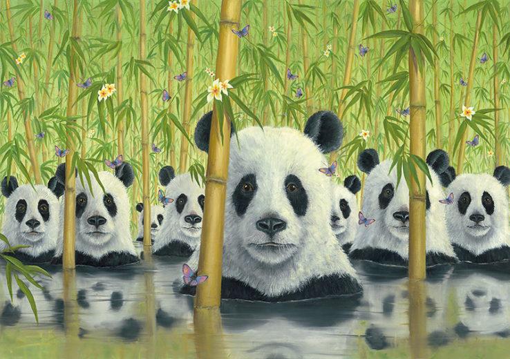 An artwork from Robert Bissell, called Bear Cats