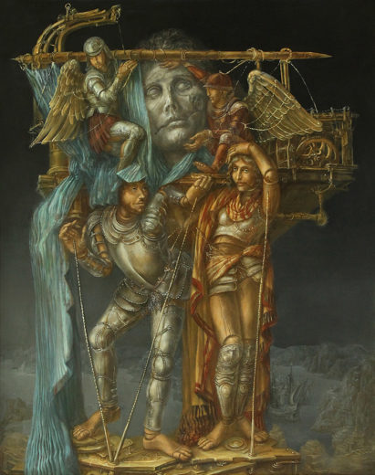 An artwork of A. Müller-Jontschewa, called Bergung Apoll