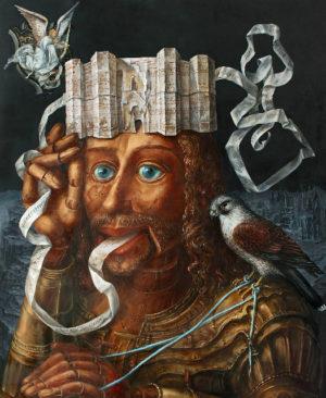 An artwork of A. Müller-Jontschewa, called Botschaft vom Castel del Monte