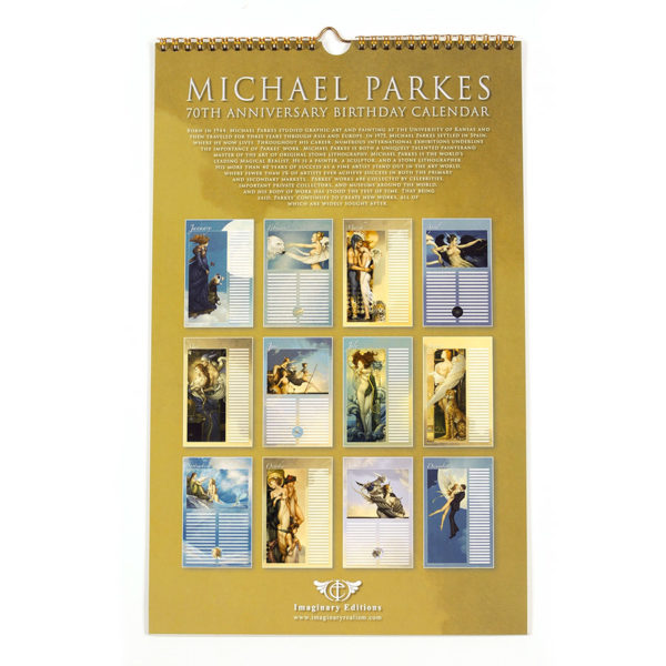 Michael Parkes Calendar of his 70th Anniversary, Back