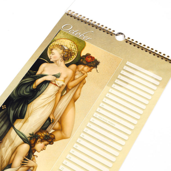 Michael Parkes Calendar of his 70th Anniversary, October