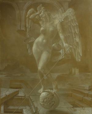 An artwork of Hans-Peter Müller, called Castel del Monte