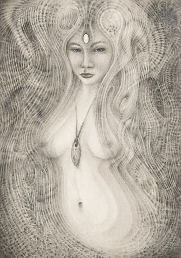 An artwork from Marcel Bakker, called Flowing into matter